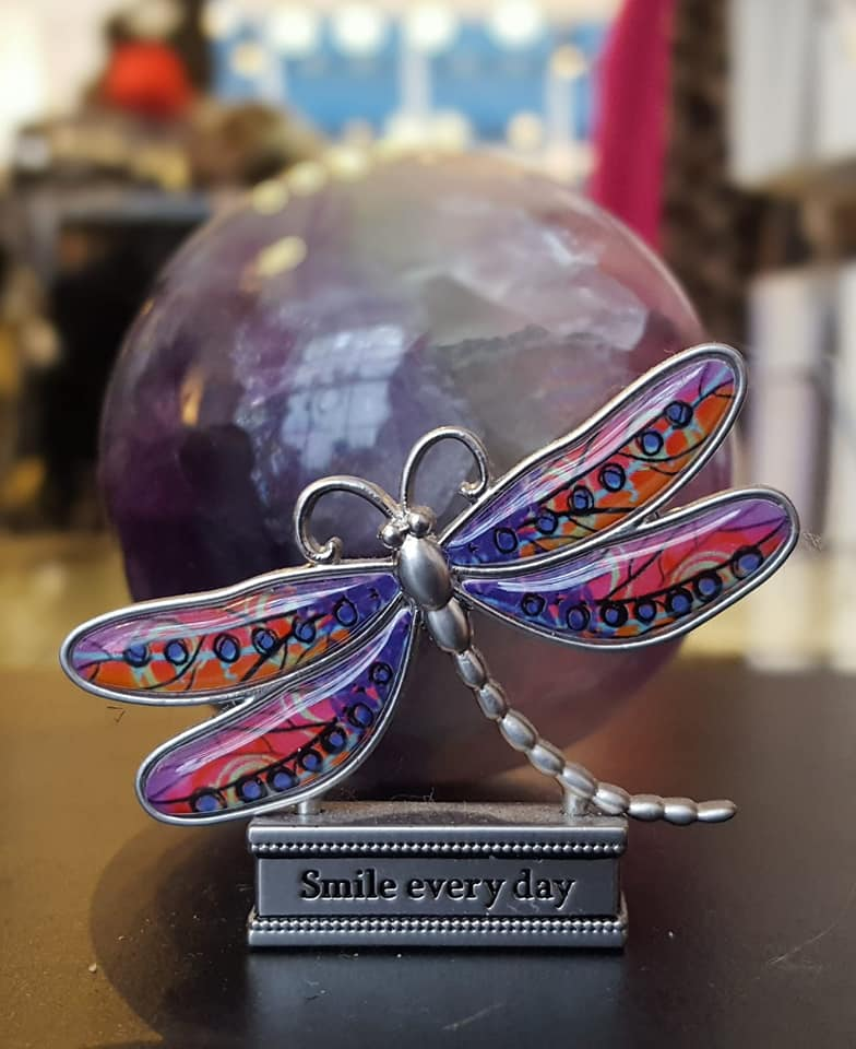 A dragonfly paperweight