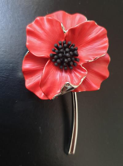 Faith in Nature - Poppy Brooch