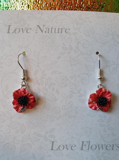 Faith in Nature - Drop Poppy Earrings