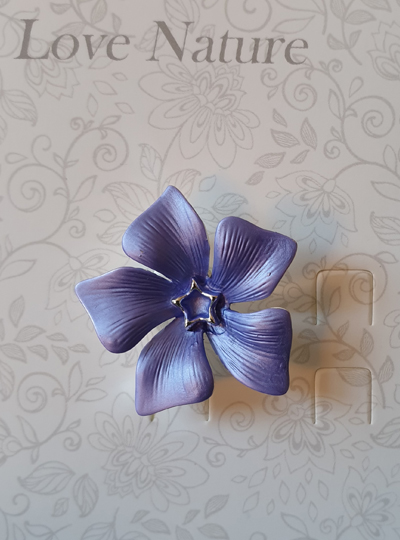 Faith in Nature - Periwinkle Brooch