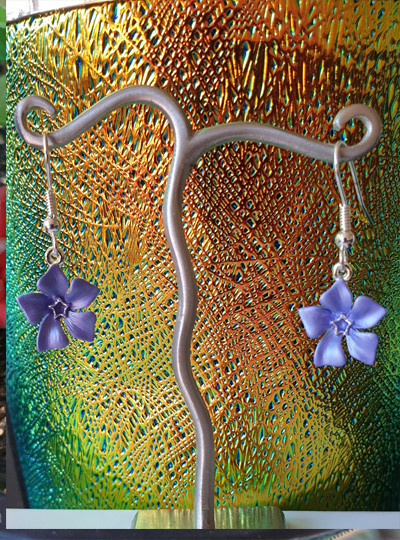 Faith in Nature - Periwinkle Drop Earrings