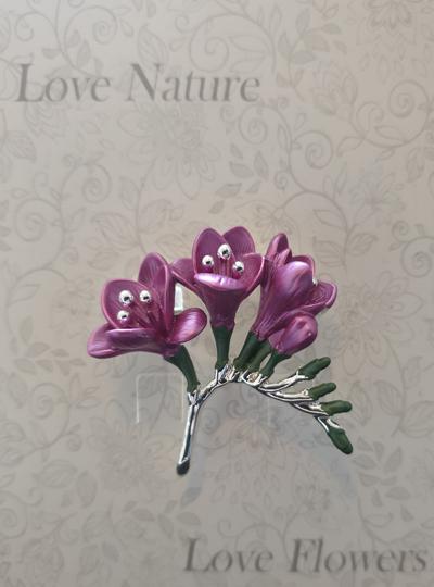 Faith in Nature - Freesia Brooch